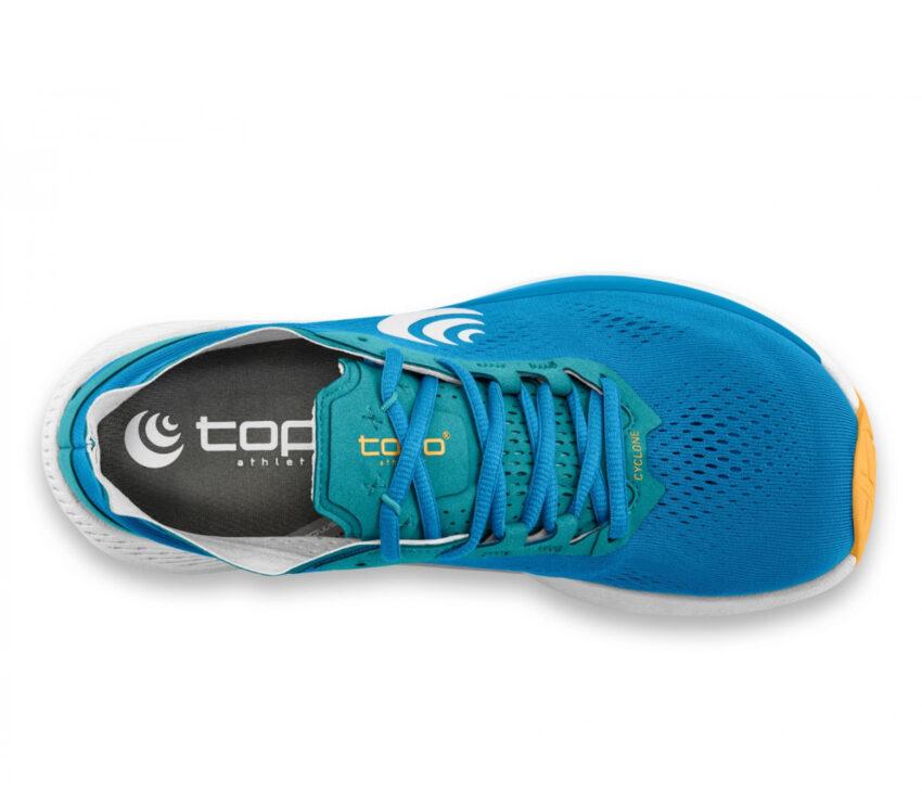 tomaia scarpa running minimal donna topo cyclone blu