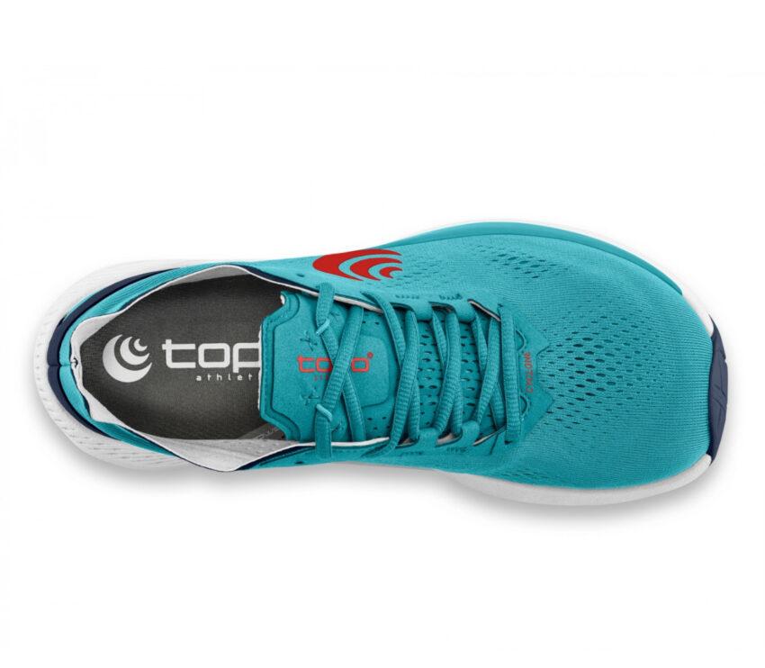 tomaia scarpa da running minimal drop basso topo cyclone azzurra uomo