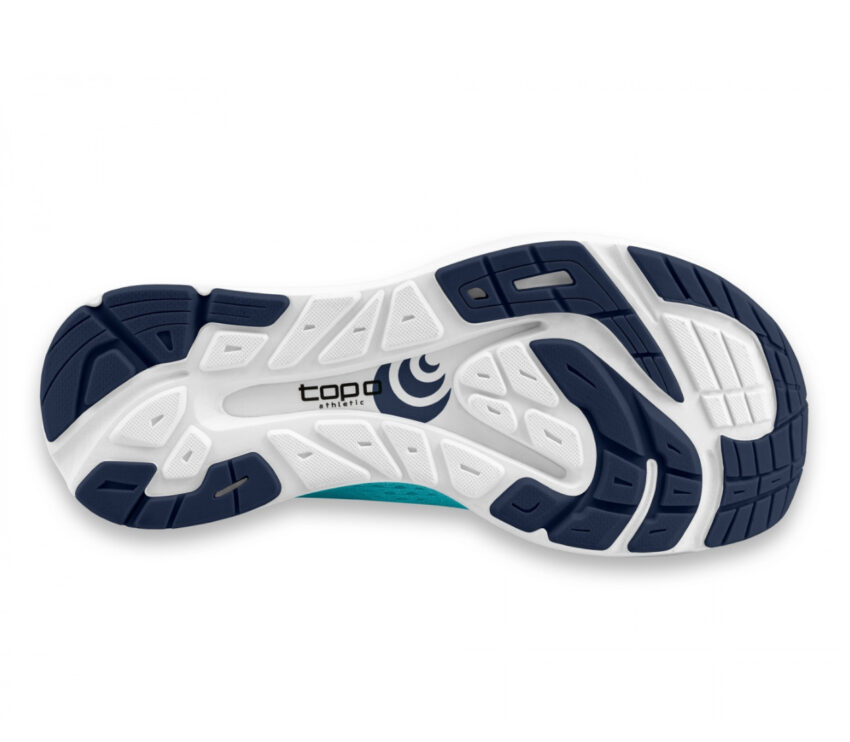 suola scarpa da running minimal drop basso topo cyclone azzurra uomo
