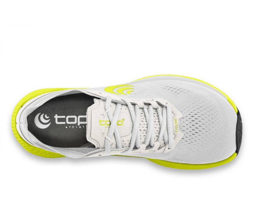 tomaia scarpa da running minimal drop basso topo cyclone bianca uomo