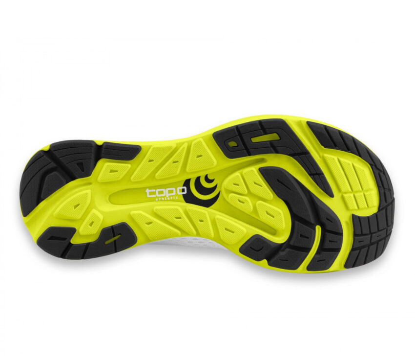 suola scarpa da running minimal drop basso topo cyclone bianca uomo