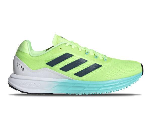 scarpa da running veloce da donna adidas sl 20 2 fluo
