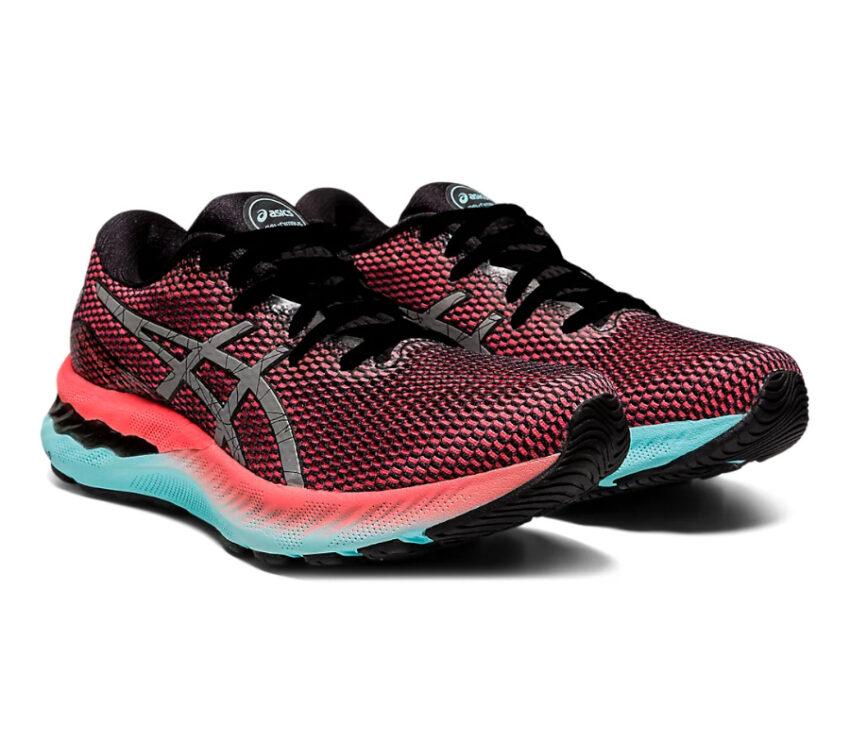 coppia scarpa da running donna asics gel nimbus 23lite show rosa