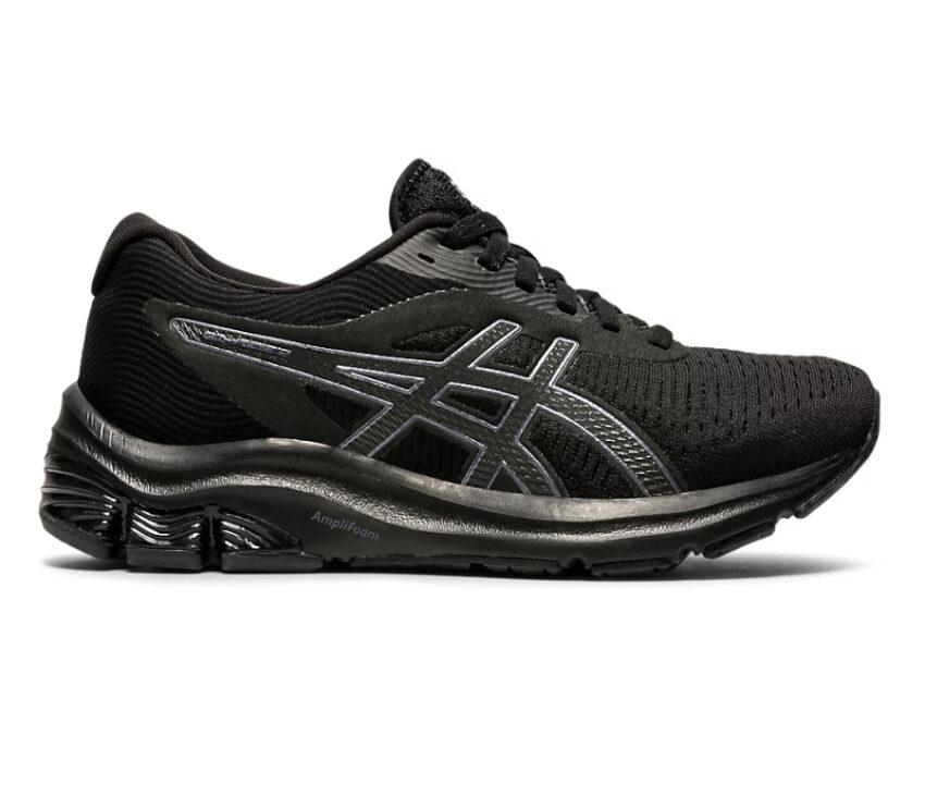 scarpa running donna nera asics gel pulse 12