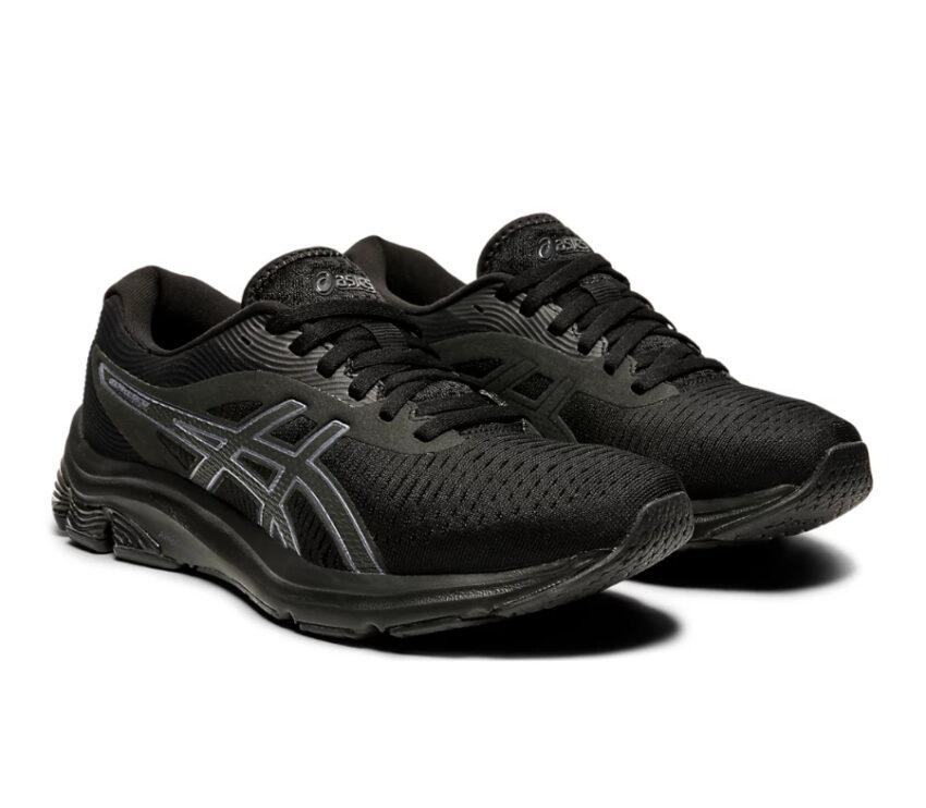 coppia scarpe running donna nere asics gel pulse 12