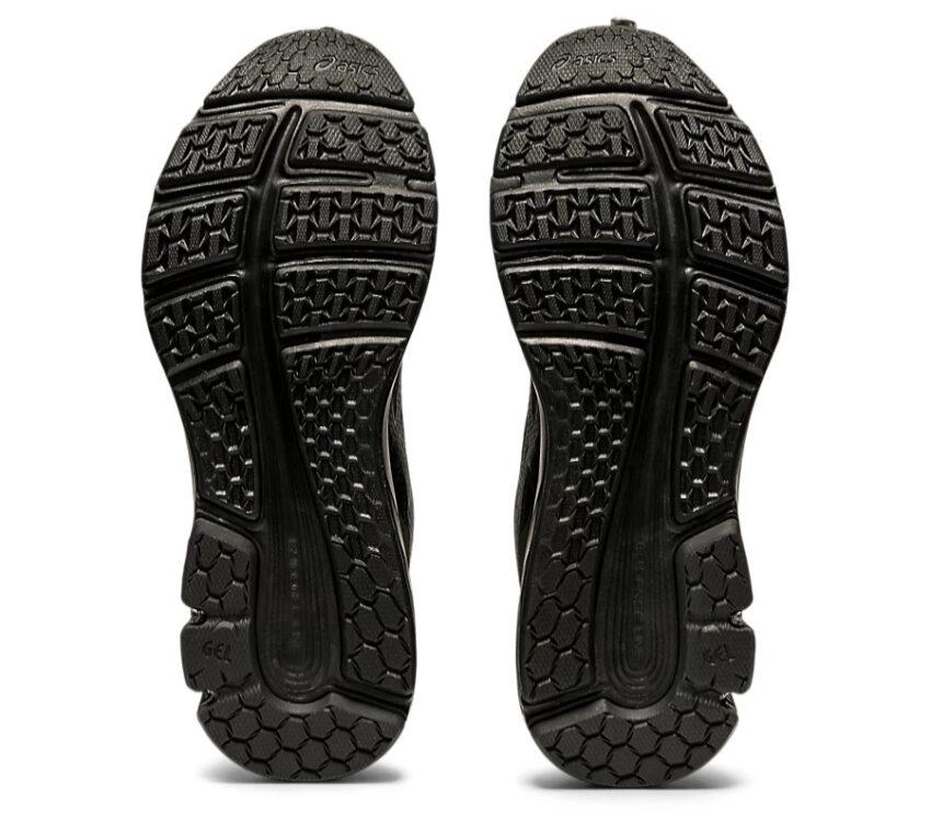 suola coppia scarpe running donna nere asics gel pulse 12