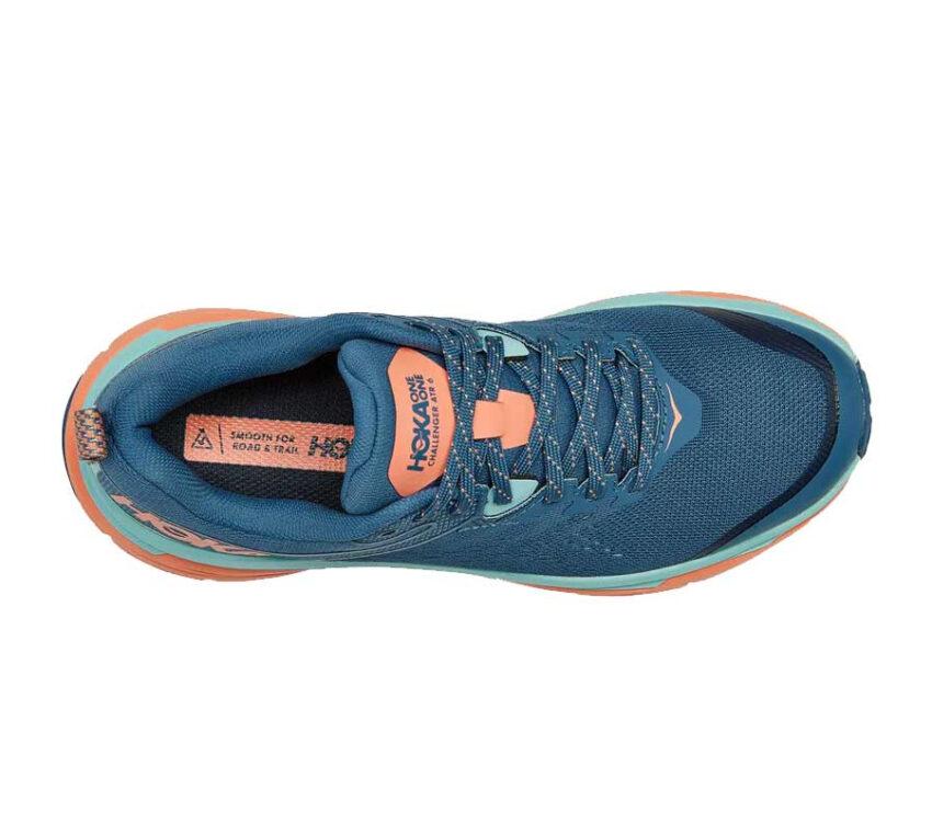 tomaia scarpa da donna hoka atr 6 blu e rosa