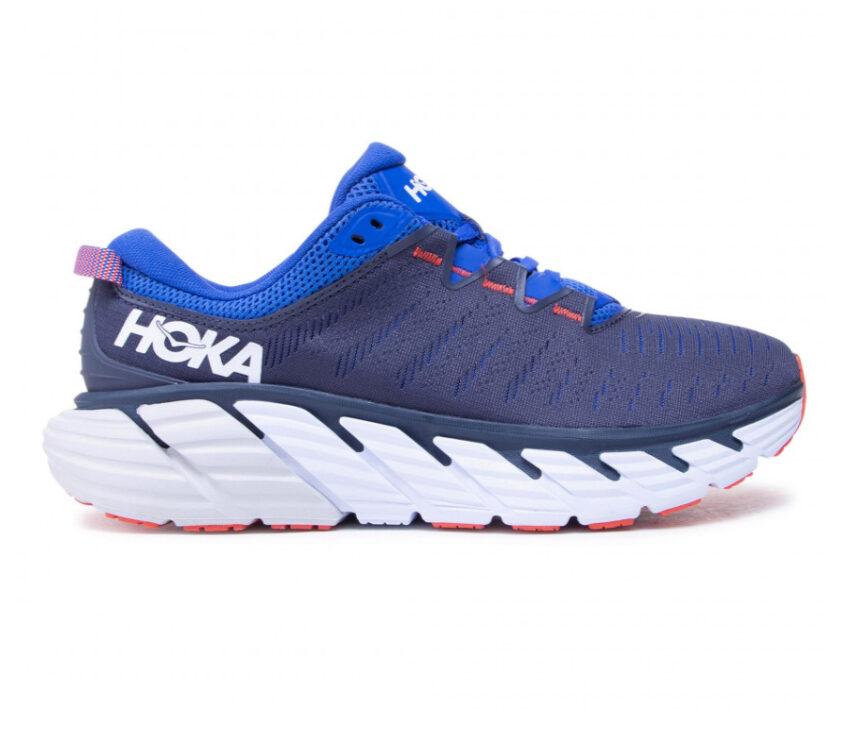 scarpa running hoka hoka gaviota 3 da uomo blu e bianche