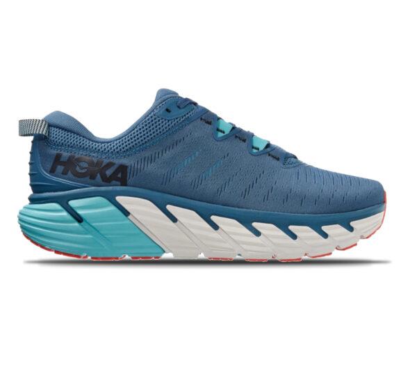 scarpa running uomo hoka gaviota 3 blu e azzurra