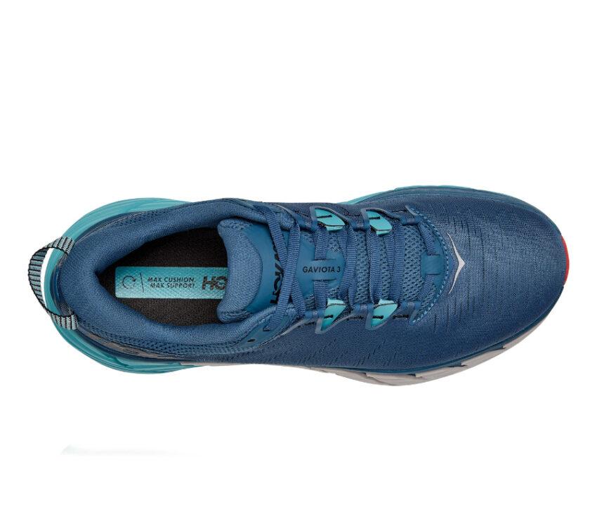 tomaia scarpa running uomo hoka gaviota 3 blu e azzurra