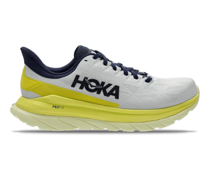 scarpa da running uomo hoka mach 4 gialla