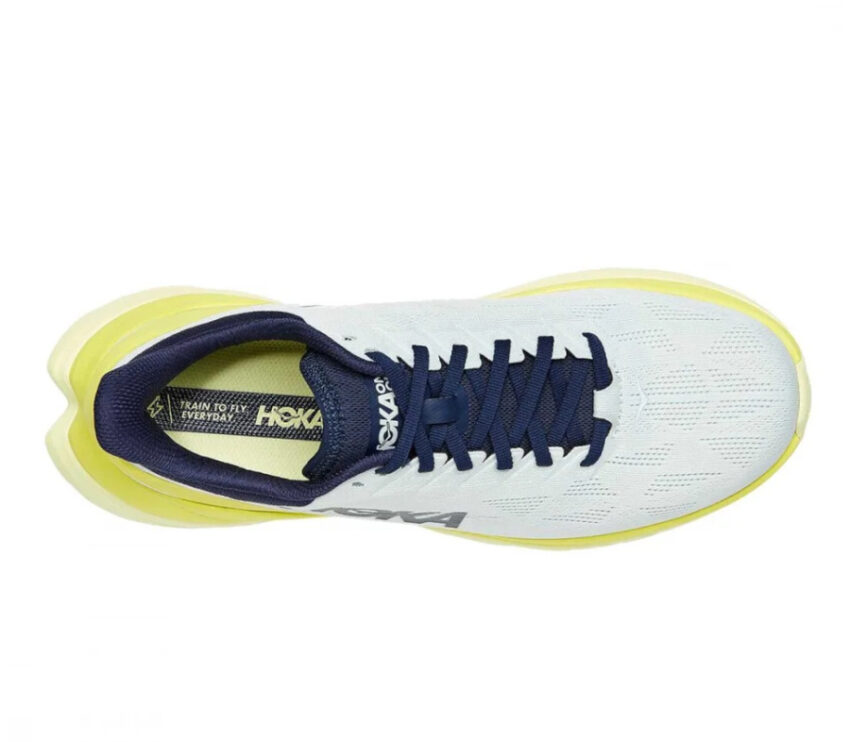 tomaia scarpa da running uomo hoka mach 4 gialla