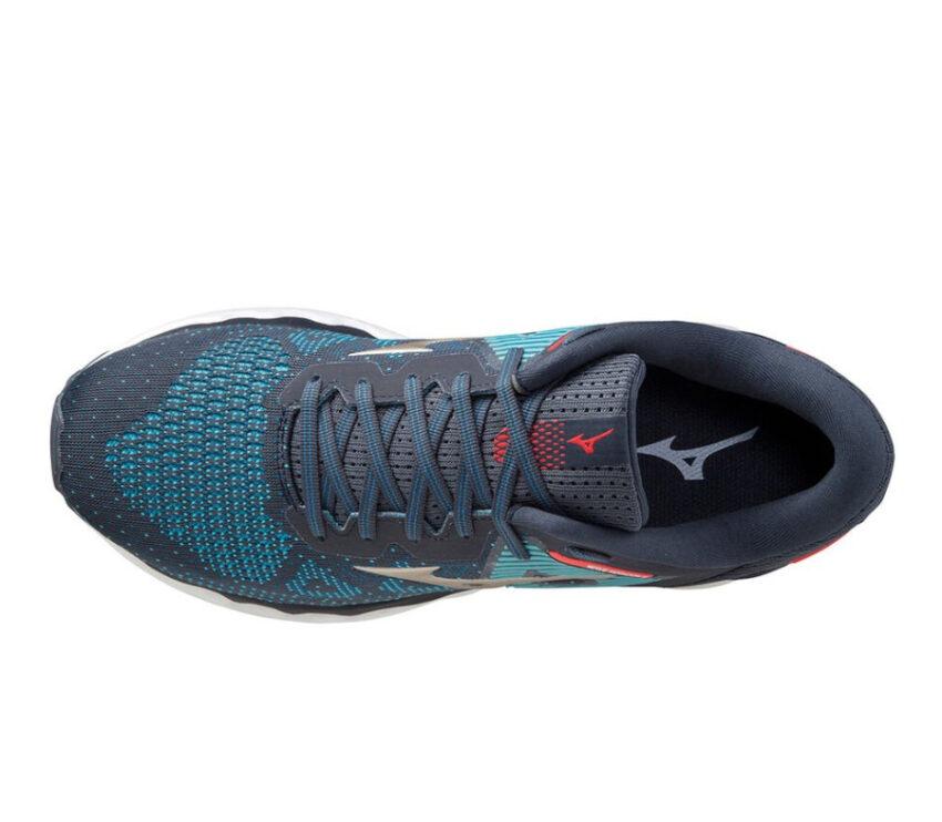 tomaia scarpa da running per pronatori mizuno horizon 5 blu