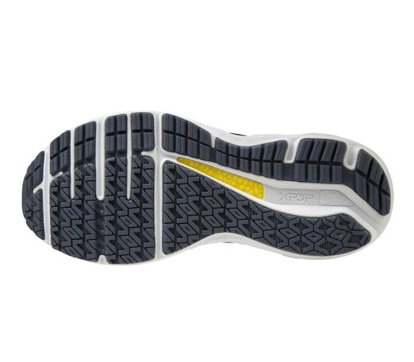 suola scarpa da running per pronatori mizuno horizon 5 blu