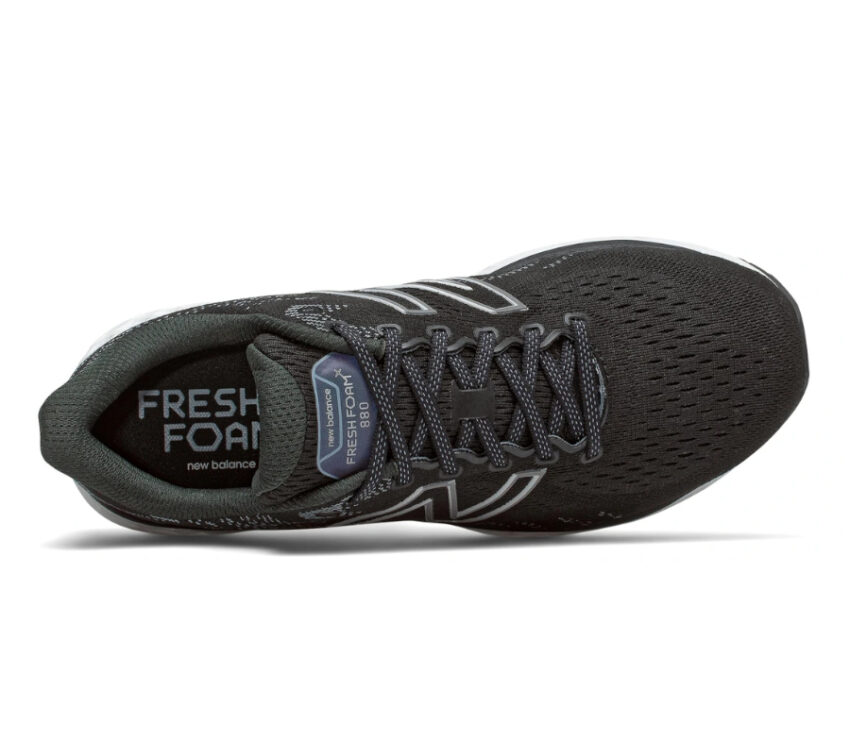 scarpa running uomo nera new balance 880 v11 vista dall'alto