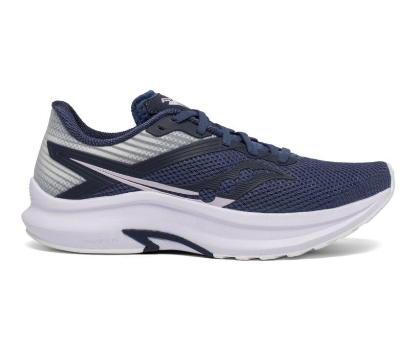 scarpa running leggera da donna saucony axon bianca e blu