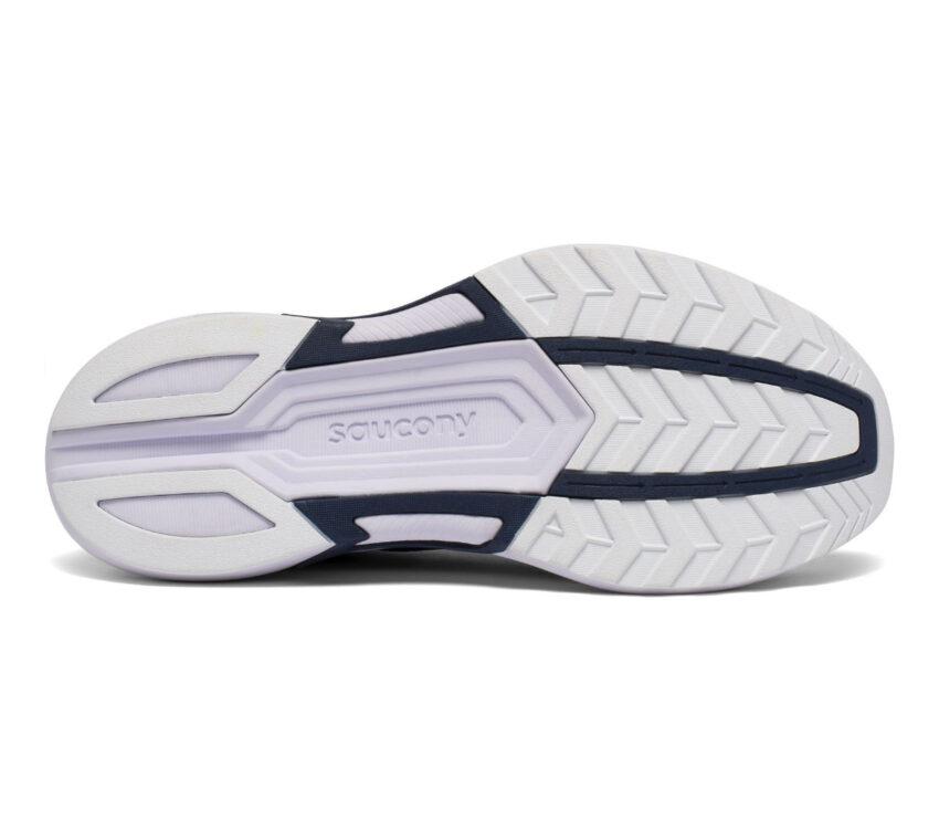 suola scarpa running leggera da donna saucony axon bianca e blu