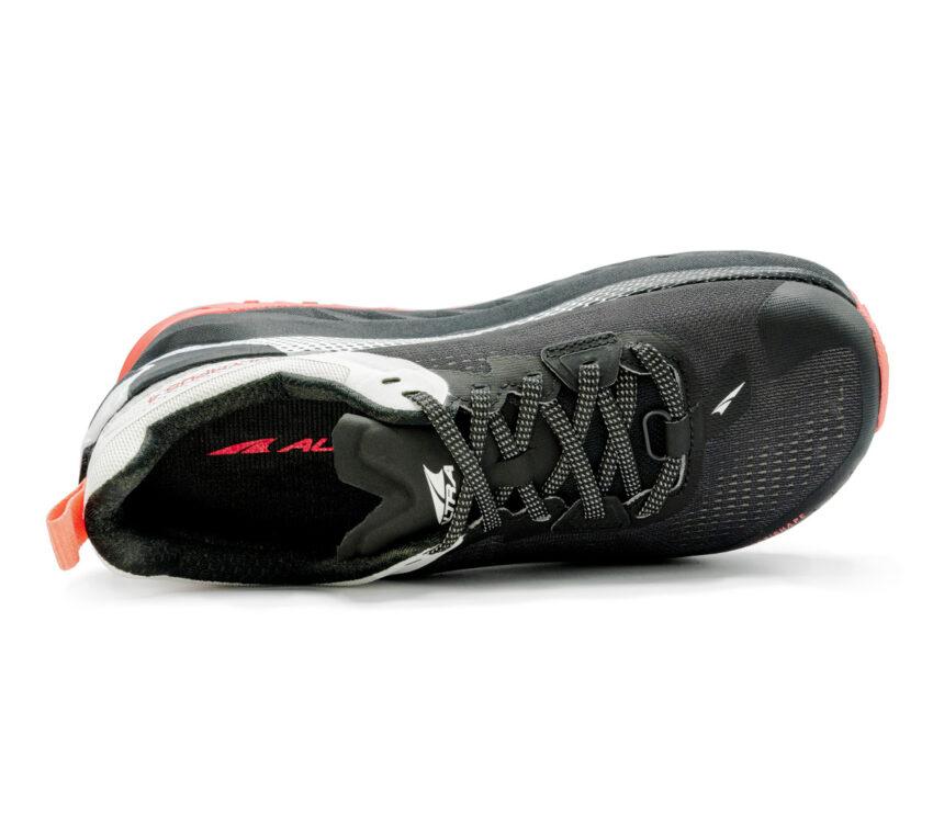 tomaia scarpa da trail running donna altra olympus 4 bianca nera e rossa