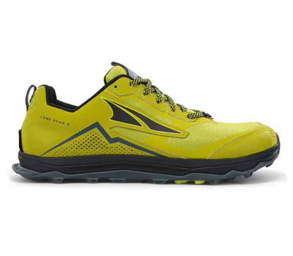 scarpa trail running uomo gialla e nera altra running lone peak 5