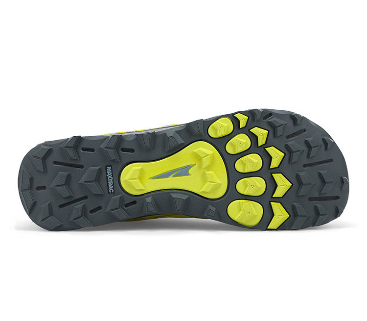 suola scarpa trail running uomo gialla e nera altra running lone peak 5