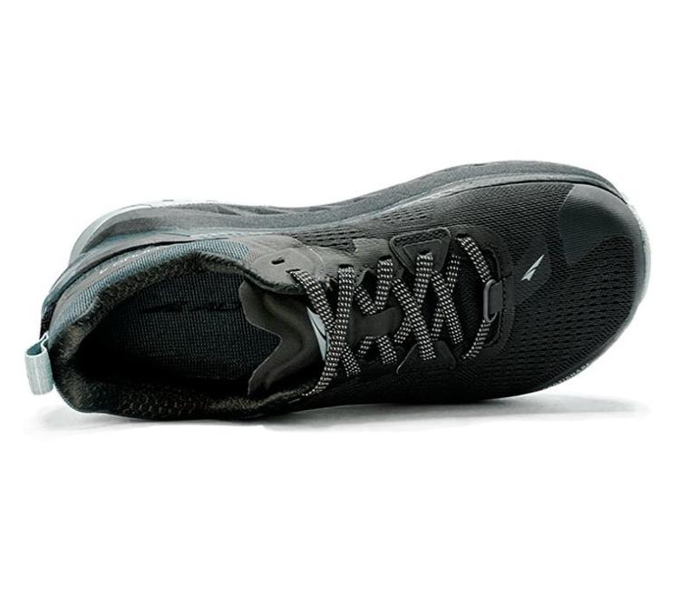 scarpa trail running nera altra running olympus 4 donna vista da sopra