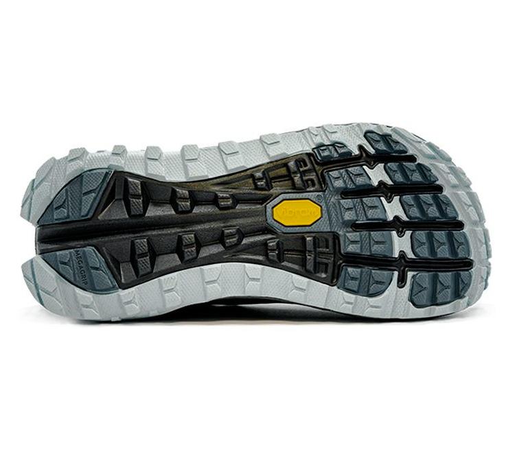 suola scarpa trail running nera altra running olympus 4 donna