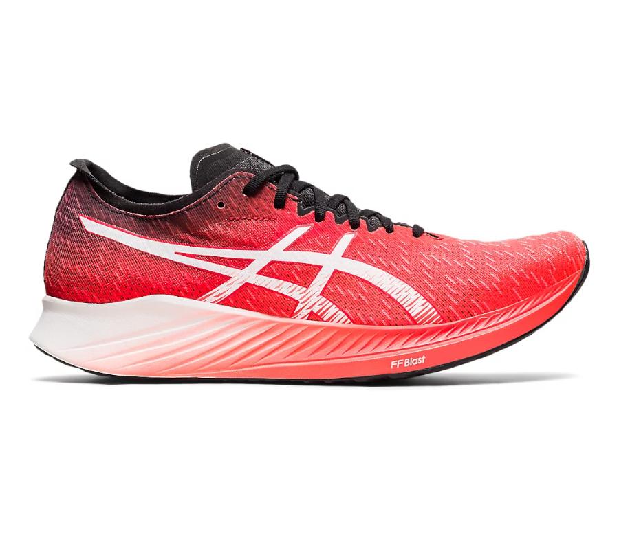 scarpa running uomo veloce asics magic speed rossa
