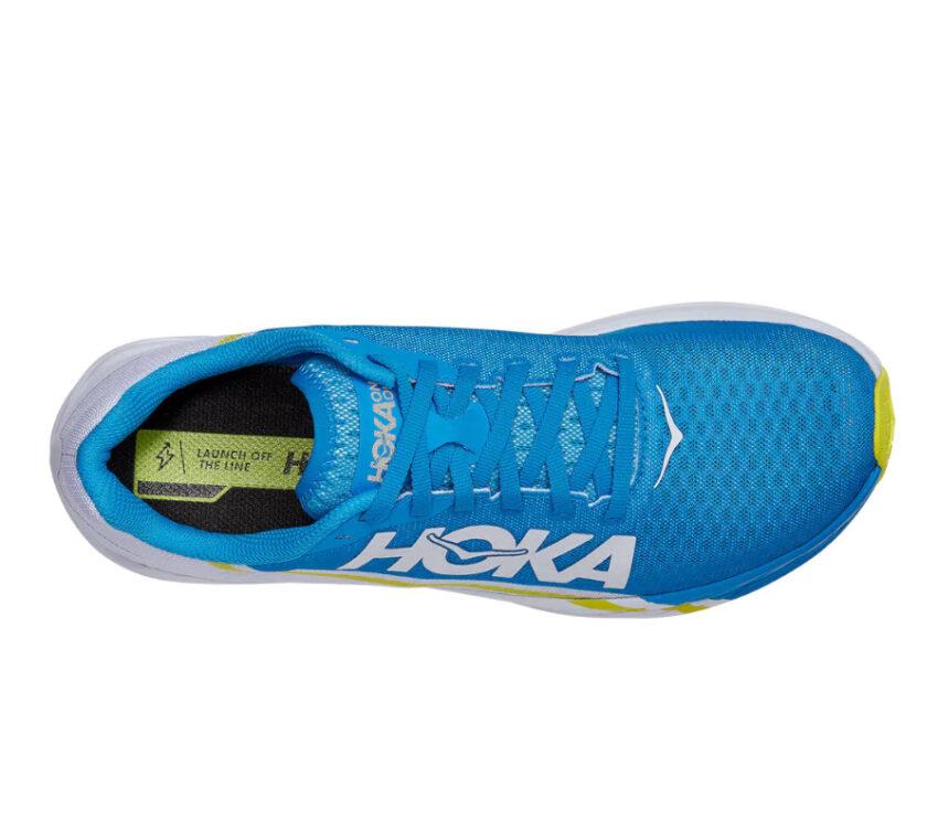 tomaia scarpa da running da performance hoka one one rocket x unisex blu