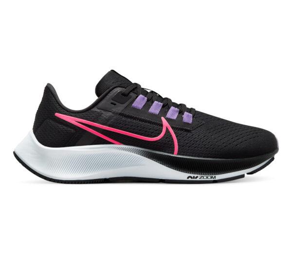 scarpa da running neutra donna nike pegasus 38 nera e rosa