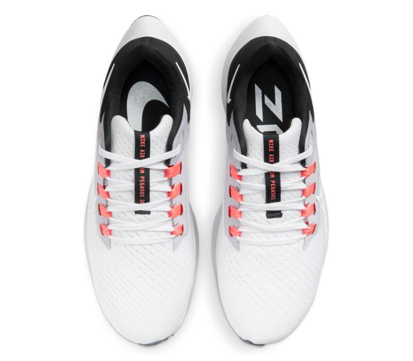 tomaia scarpa da running donna nike pegasus 38 bianca e grigia