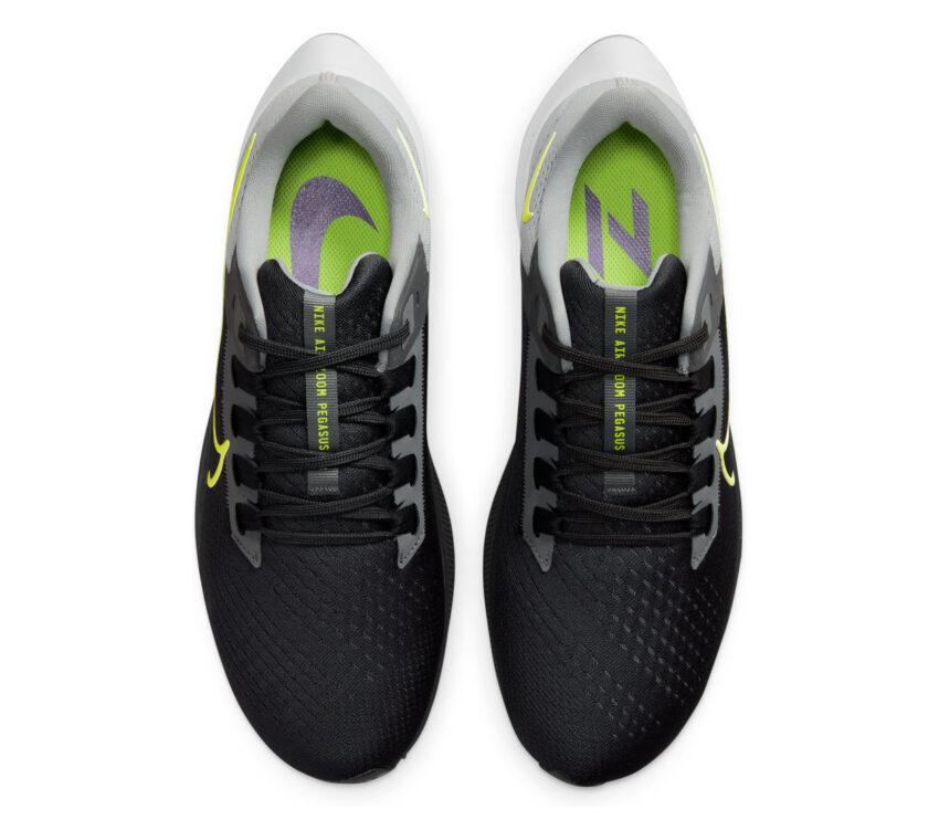 scarpa running uomo nike pegasus 38 nera gialla