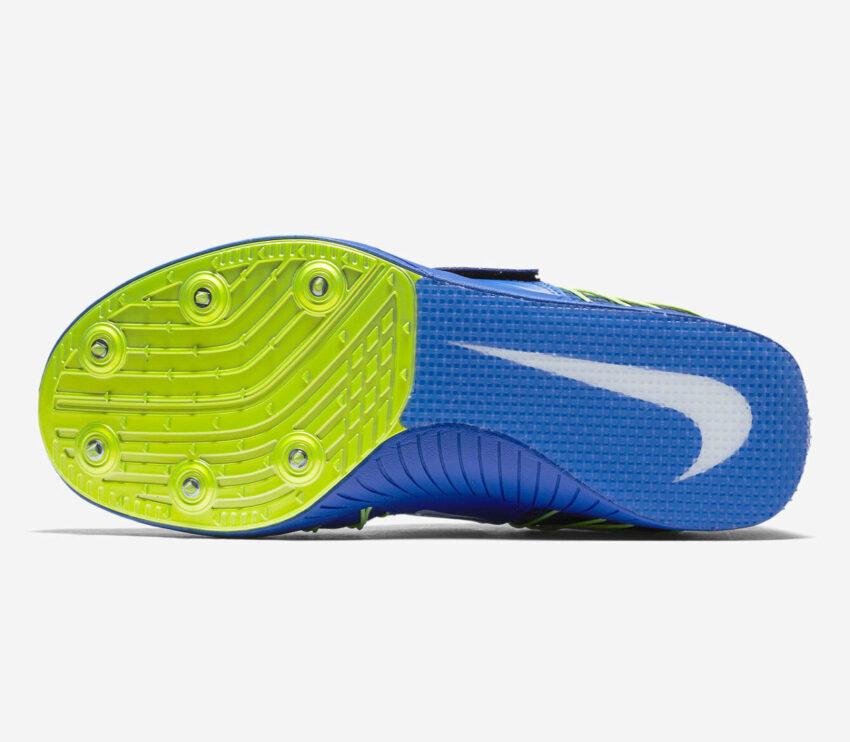 suola scarpa atletica salto triplo unisex nike triple jump elite blu e gialla