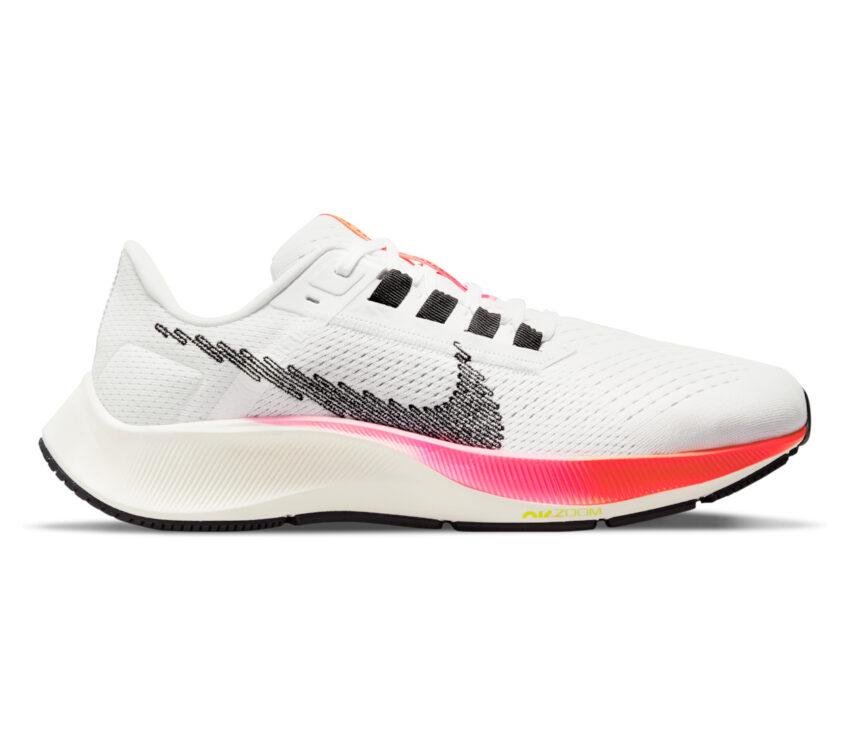 scarpa running donna nike zoom pegasus bianca e rosa