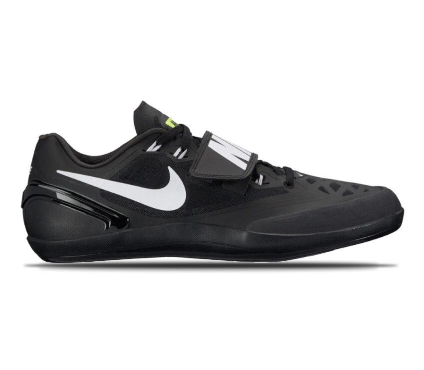 suola scarpa da lancio su pista nike zoom rotational nera