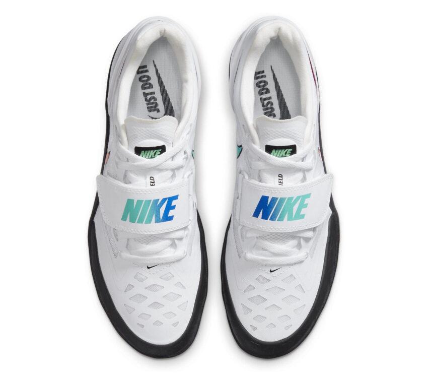 suola scarpa da lancio su pista nike zoom rotational