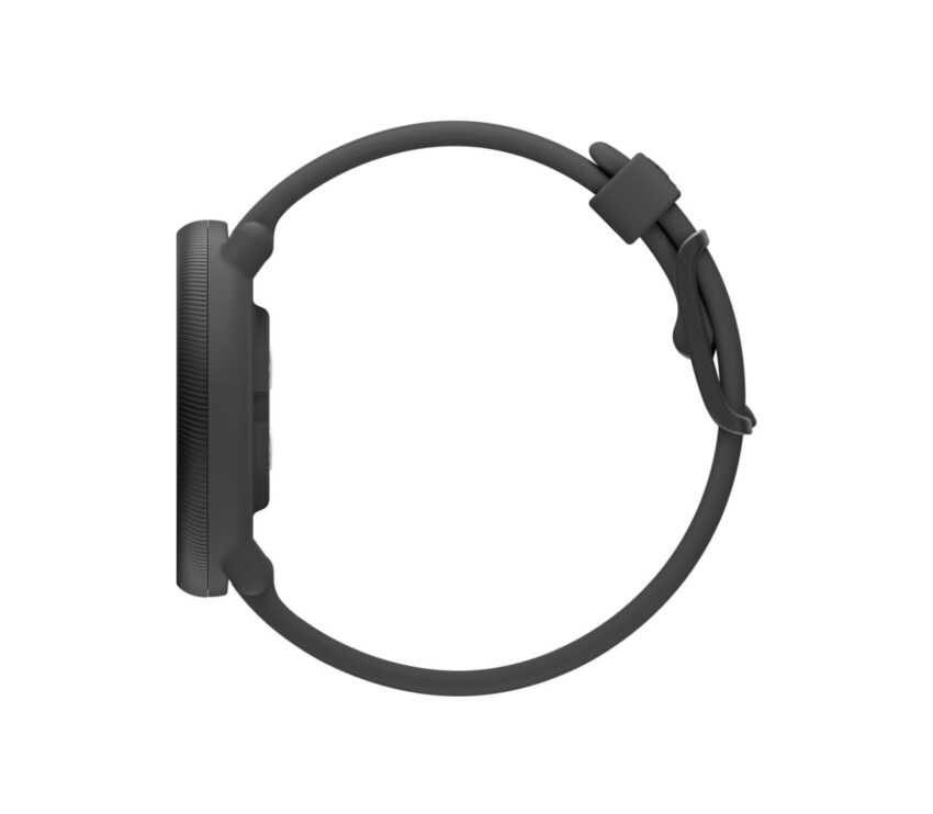 lato con quadrante e cinturino polar ignite 2 nero