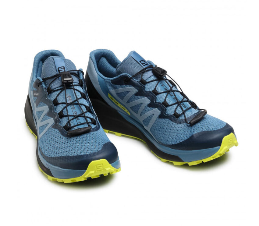 coppia scarpe trail running da uomo salomon sense ride 4 blu