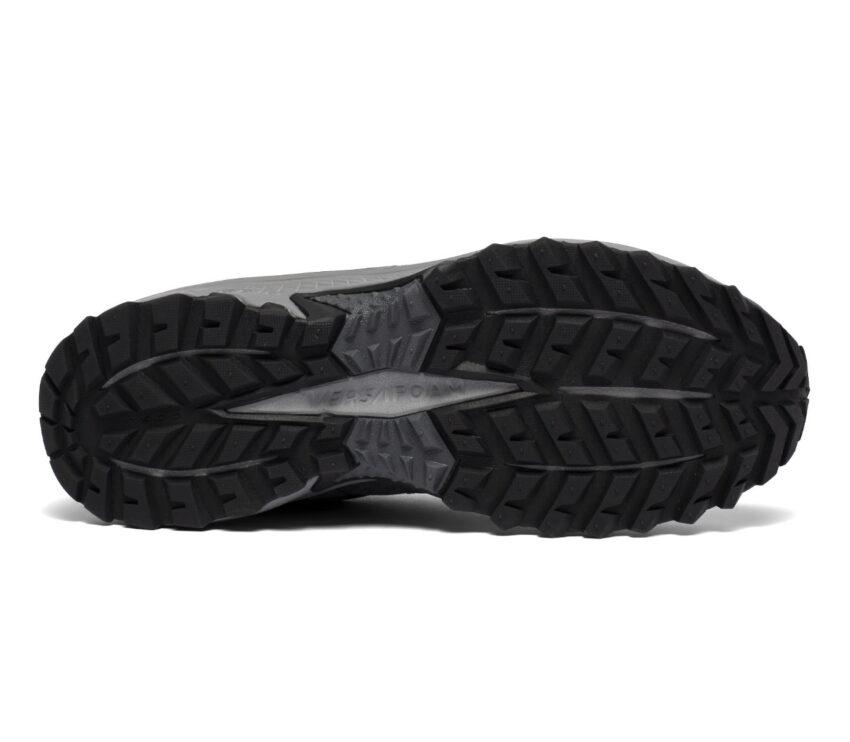suola scarpa da trail running uomo saucony tr14 gtx grigia
