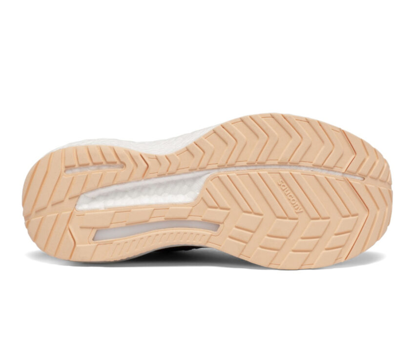 suola scarpa da running stabile per donne saucony hurricane nera