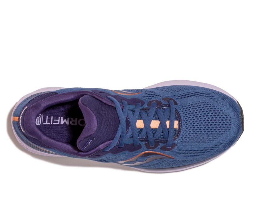 tomaia scarpe da running neutre per donna saucony ride 14 blu