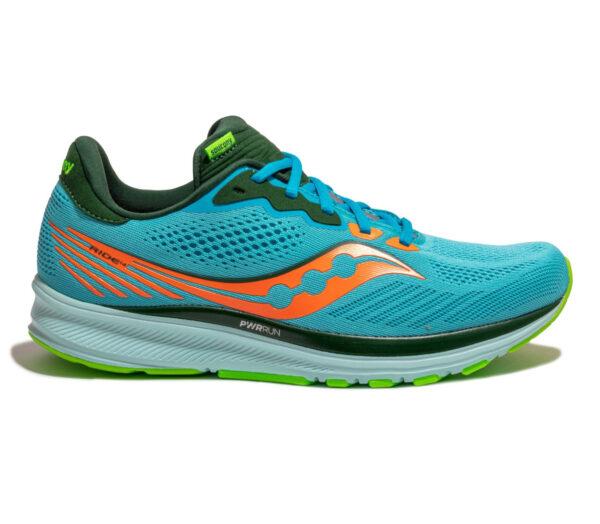 scarpa da running neutra uomo saucony ride 14 azzurra