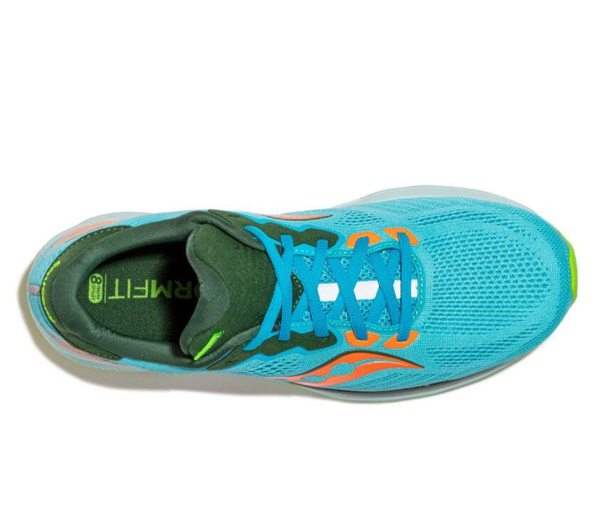 tomaia scarpa da running neutra uomo saucony ride 14 azzurra