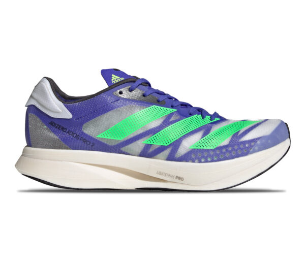scarpa da running unisex reattiva adidas adios pro 2 blu e verde