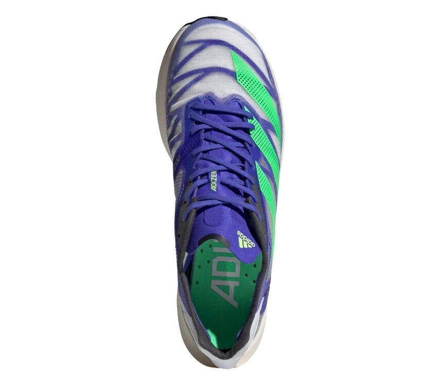 tomaia scarpa da running unisex reattiva adidas adios pro 2 blu e verde