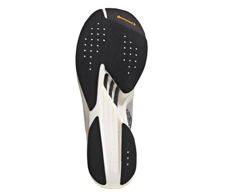 suola scarpa running adidas adizero adios pro 2 unisex bianca e nera
