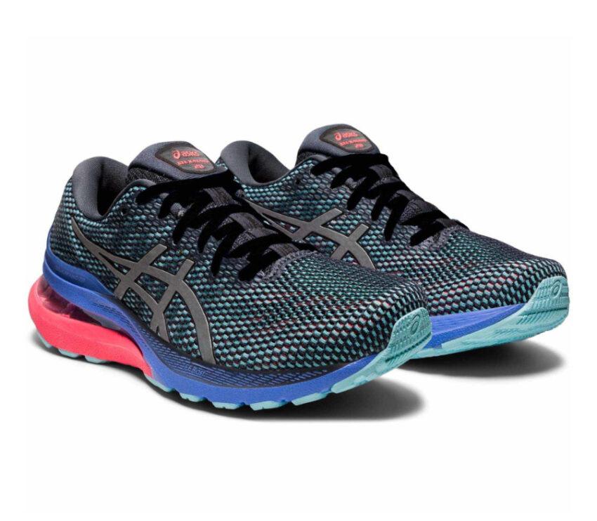 coppia di scarpe da running per pronazione asics gel kayano 28 lite show da donna