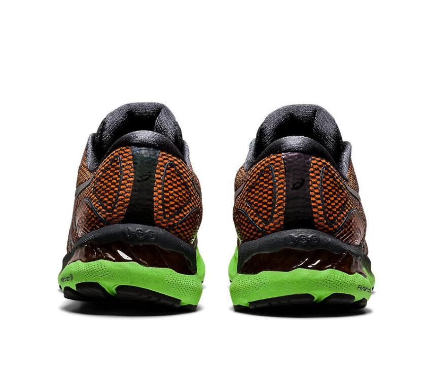 tallone scarpa da running uomo asics gel nimbus 23 lite arancione