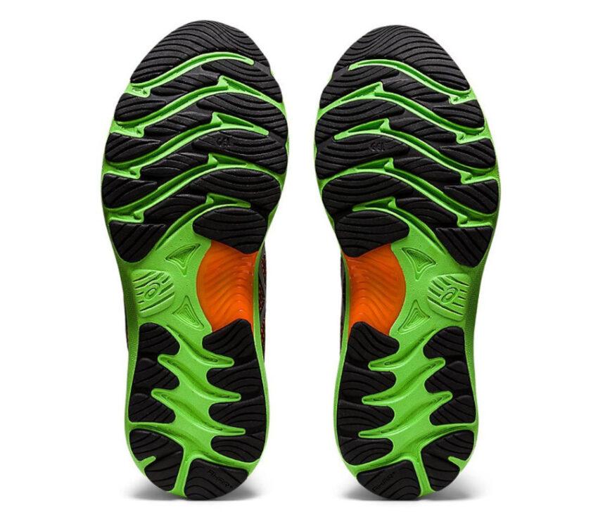 suola scarpa da running uomo asics gel nimbus 23 lite arancione