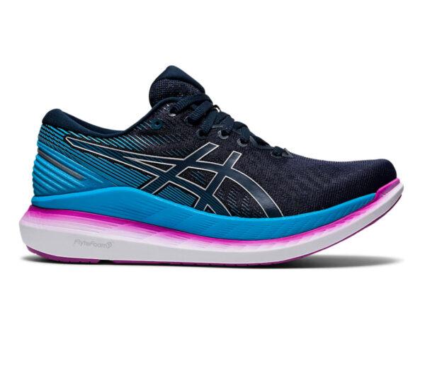 scarpa da running per donna asics glideride 2 blu e rosa