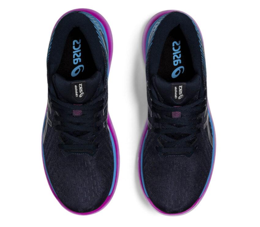 tomaia scarpa da running per donna asics glideride 2 blu e rosa
